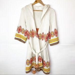 GUC Lilka Fair Aisle Hooded Belted Robe Cardigan